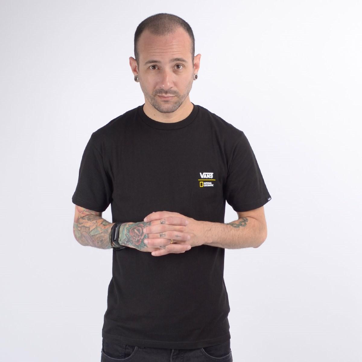 Camiseta Vans Masculina National Geographic Globe SS Black VN0A4MSHBLK