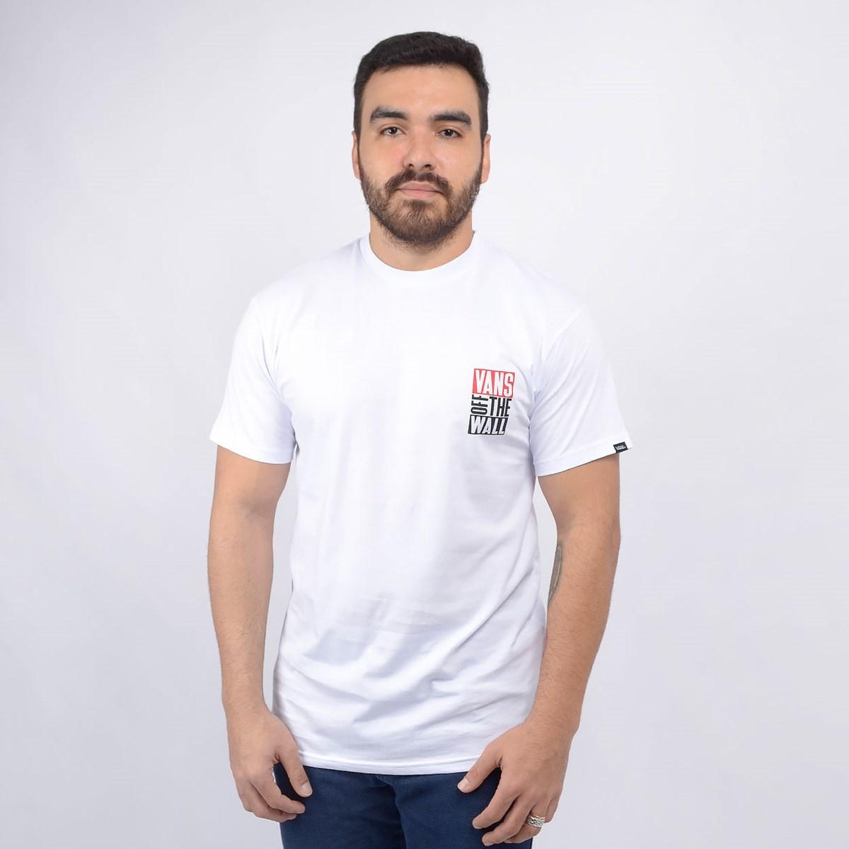 Camiseta Vans Masculina New Stax SS White VN0A49Q6WHT