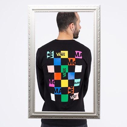 Camiseta Vans MoMA Branded Black VN0A4RU51PJ