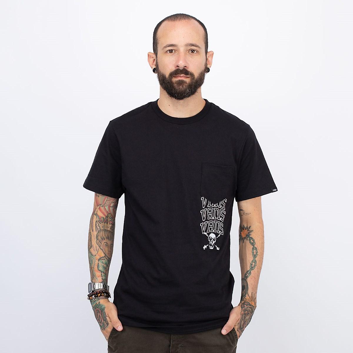 Camiseta Vans New Varsity Pocket SS Black VN0A54C7BLK