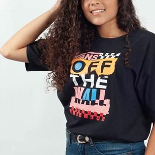 Camiseta Vans Oversized Traffic Jammer Black VNBA3UM7BLK