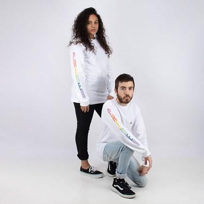Camiseta Vans Pride Collection Long Sleeve T Shirt Manga Longa White VN0A5E89WHT