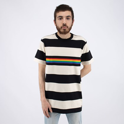 Camiseta Vans Pride Collection Rugby Stripe Shirt Antique White VN0A5E71ZHJ
