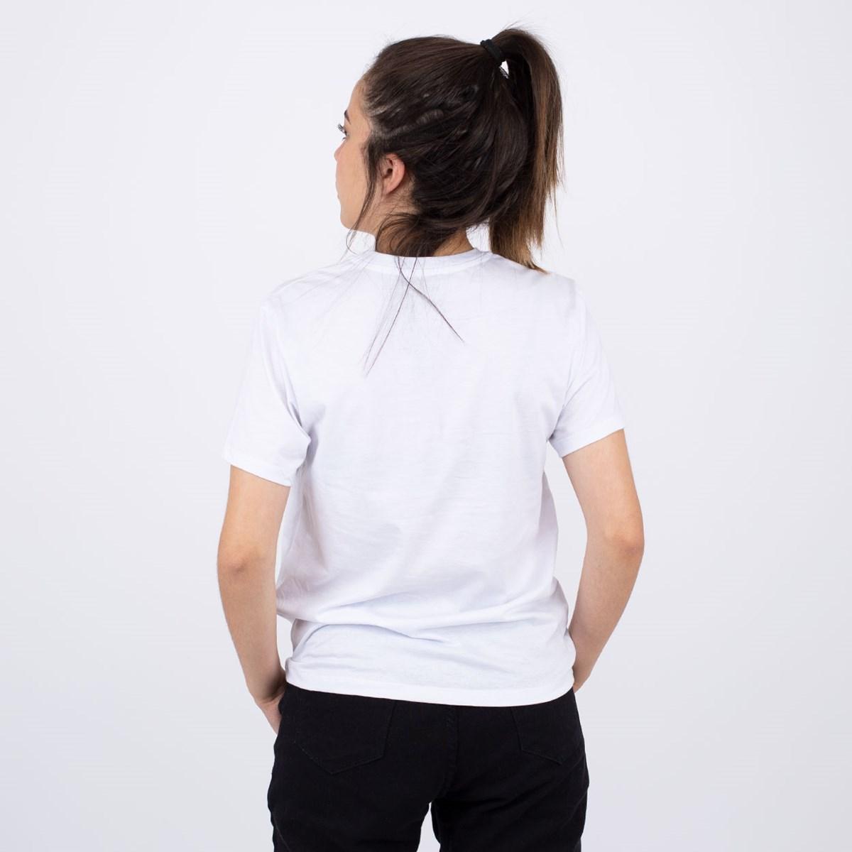 Camiseta Vans Split Ticket White VN0A4SEBWHT
