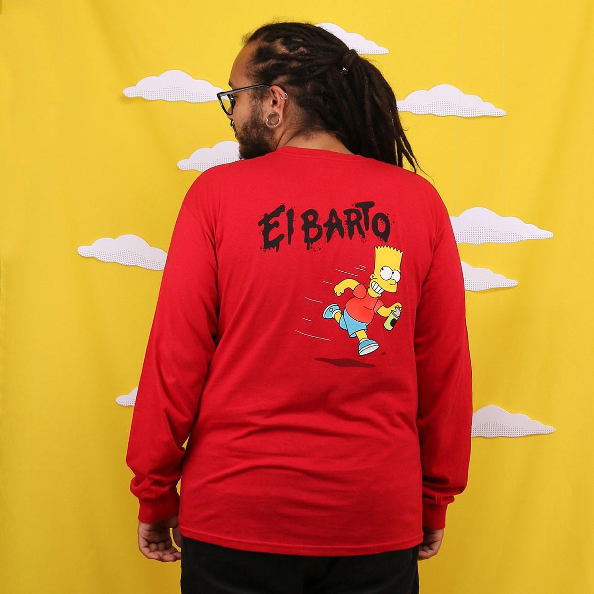 Camiseta Vans The Simpsons El Barto Manga Longa Red VN0A4RTN17A