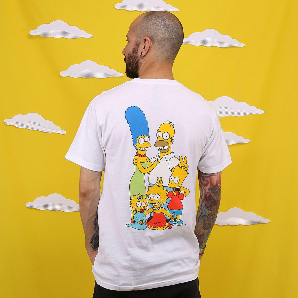 Camiseta Vans The Simpsons Family Manga Curta White VN0A4RTOZZZ