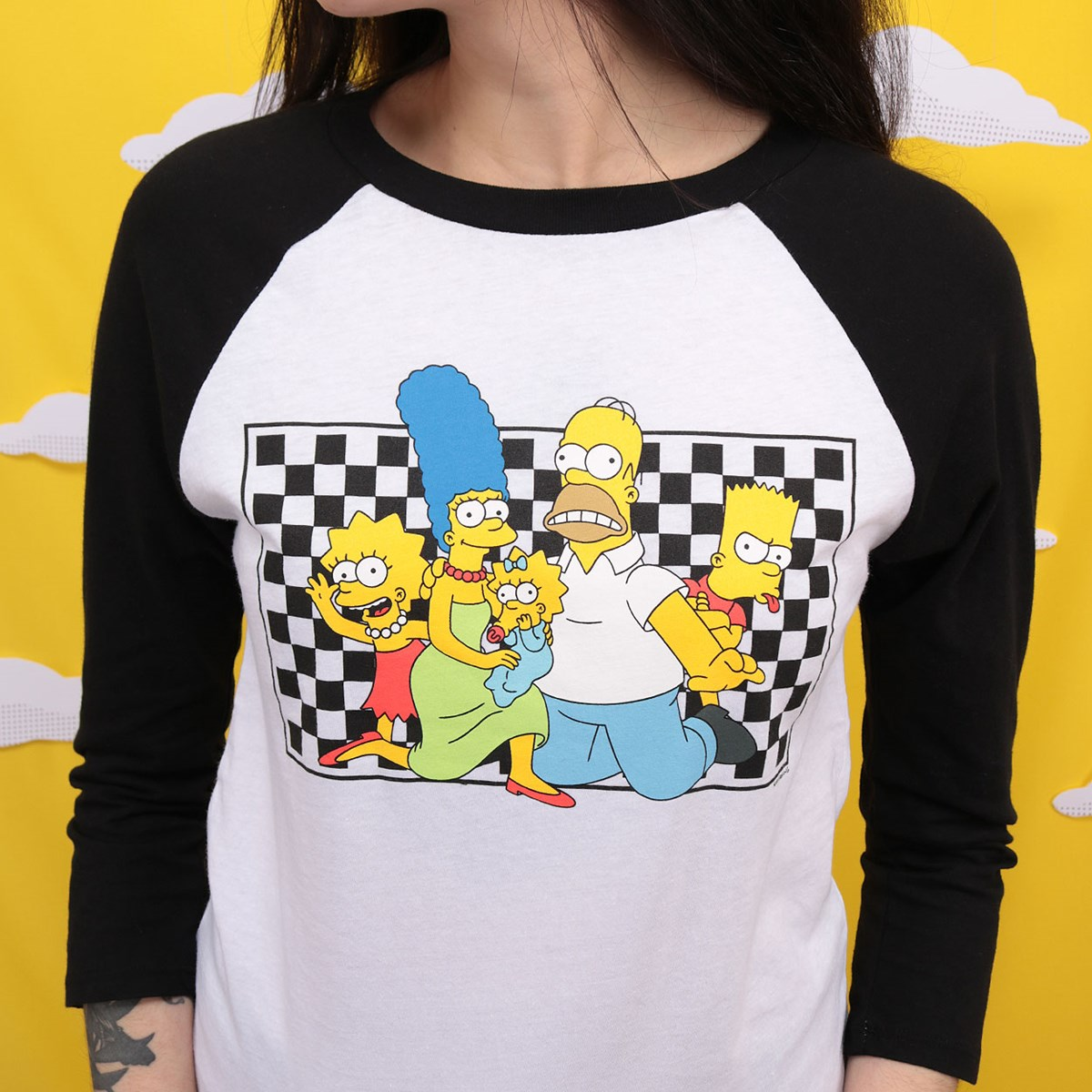 Camiseta Vans The Simpsons Family Raglan VN0A4V47ZZZ