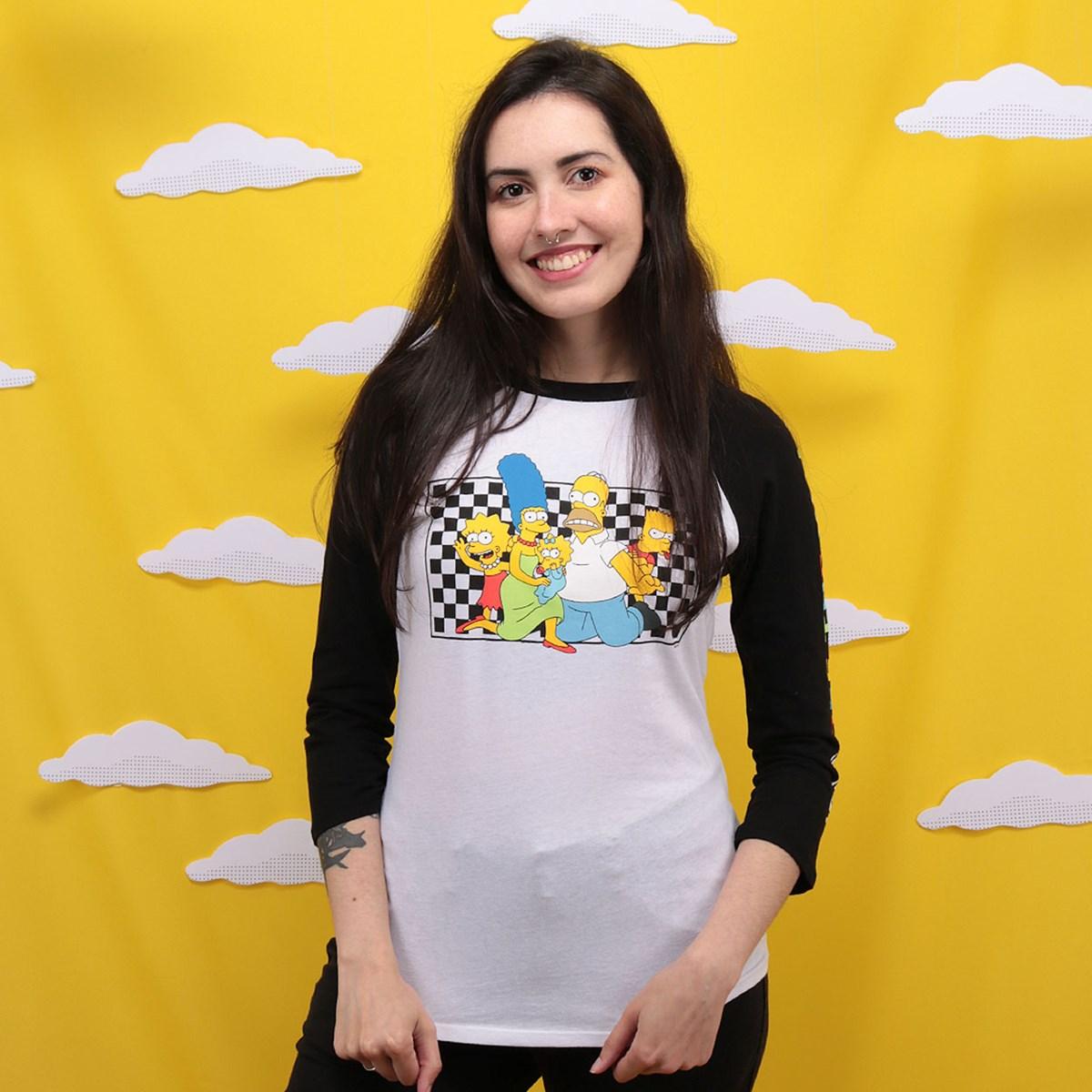 Camiseta Vans The Simpsons Family Raglan VN0A4V47ZZZ