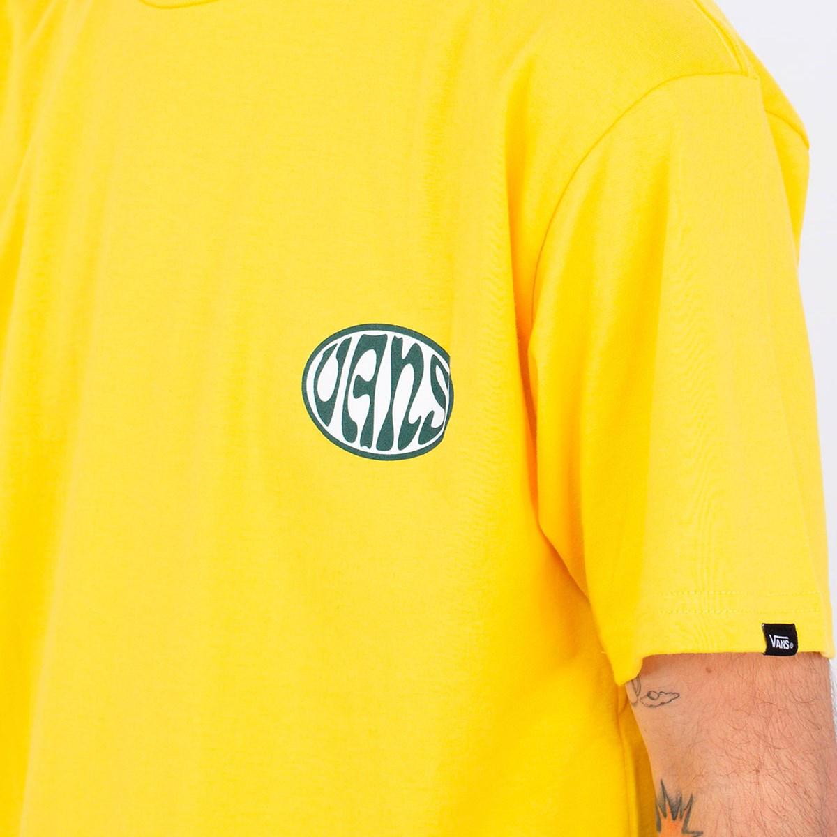 Camiseta Vans Wall Slide SS Lemon Chrome VN0A4ROW85W