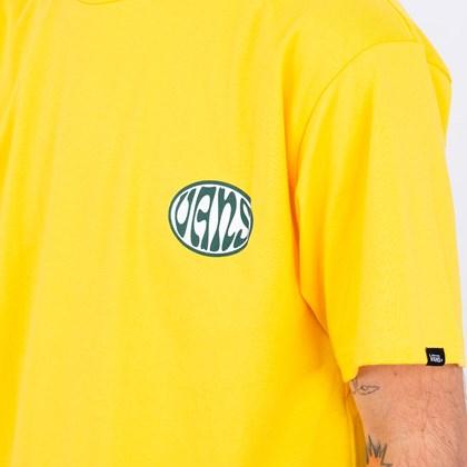 Camiseta Vans Wall Slide SS Lemon Chrome VN0A4ROW85W