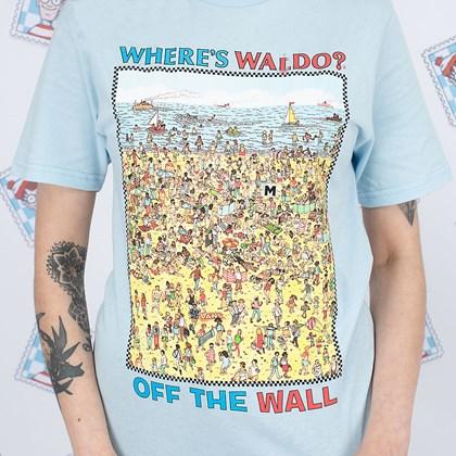 Camiseta Vans Wheres Waldo Find Steve Beach Blue VN0A5E3P3WO