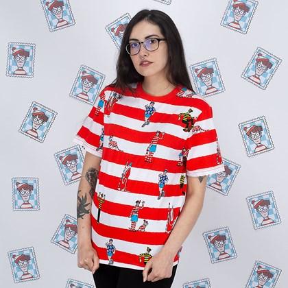 Camiseta Vans Wheres Waldo Stripe White Racing VN0A544IZ4Q