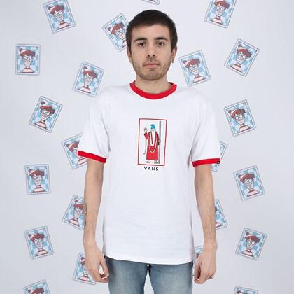 Camiseta Vans Wheres Waldo Wizard White Racing VN0A4VKNZ4Q