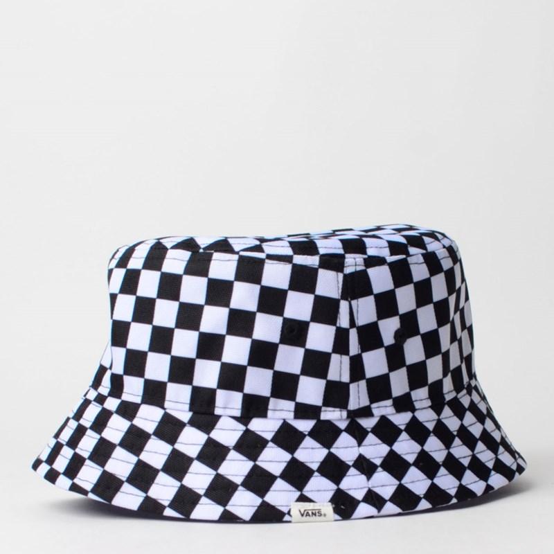 Chapéu Vans Drizzle Drop Bucket Black White Checkerboard VN0A4MVC56M