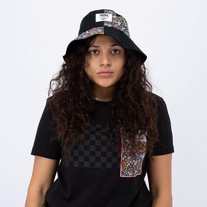 Chapéu Vans Liberty Fabrics Bucket Hat Black Tamanho M-G VN0A5FSIZE9