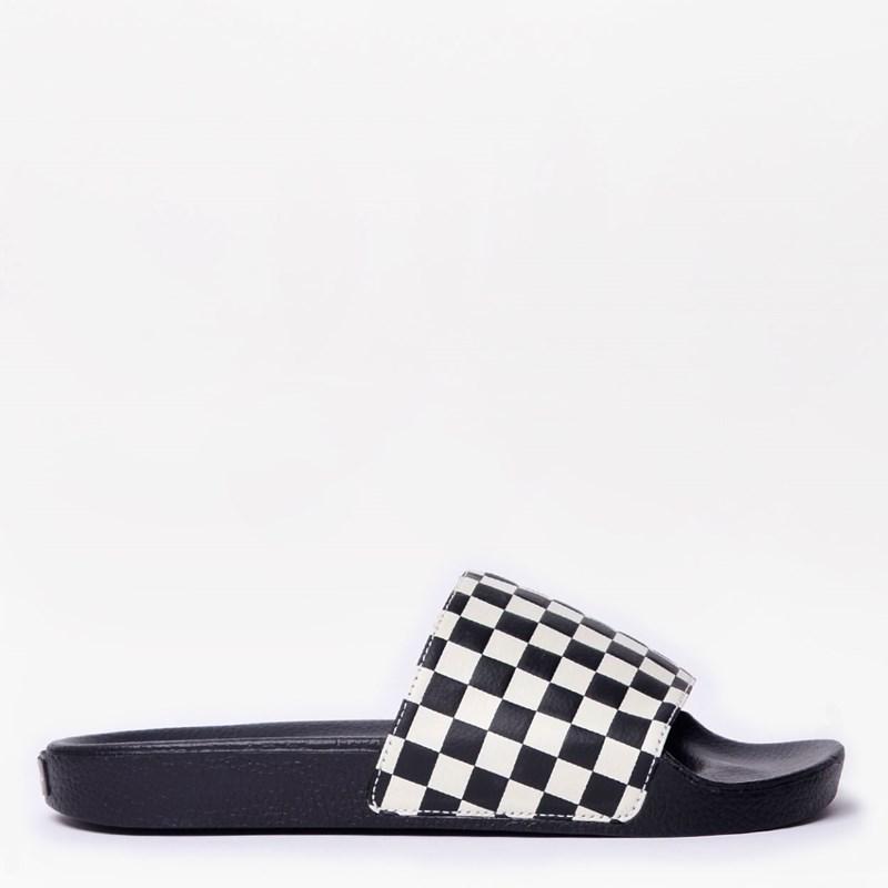Chinelo Vans Slide On Masculino Checkerboard White VN0004KIIP9