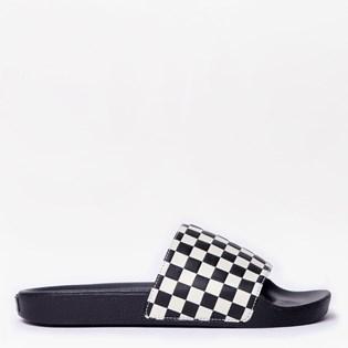 Chinelo Vans Slide On Masculino Checkerboard White VNB004KIIP9