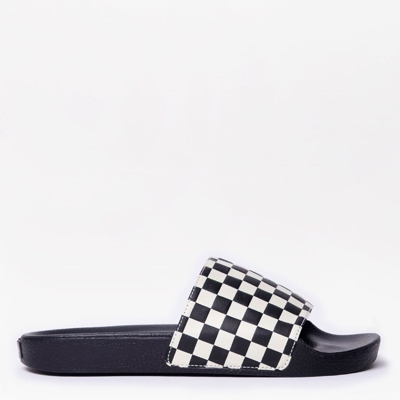 Chinelo Vans Slide On Masculino Checkerboard White VNB004KIIP9
