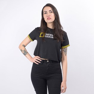 Cropped Vans Feminina National Geographic Rollout Black VN0A4RGPBLK