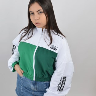 Jaqueta Adidas Feminina Cropped Track Top Branco ED7437