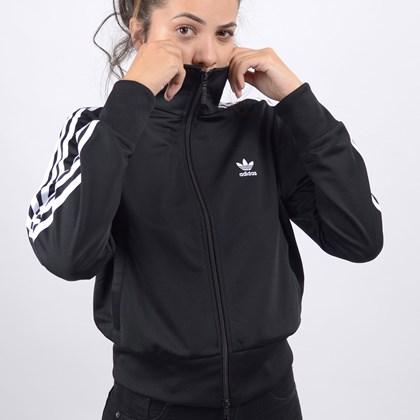 Jaqueta Adidas Feminina Firebird TT Black White FM3269