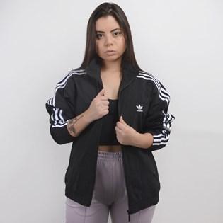 Jaqueta Adidas Feminina Lock Up TT Preto Branco ED7538