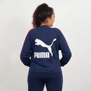 Jaqueta Puma Feminina Classics T7 Track Jacket Marinho Vermelho 57666106