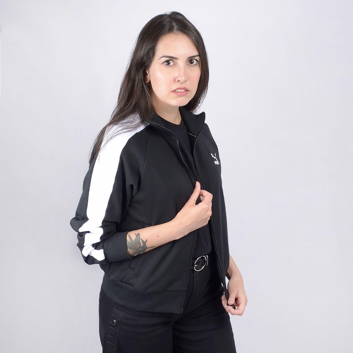 Jaqueta Puma Feminina Classics T7 Track JKT FT Black 59520401