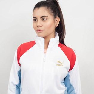 Jaqueta Puma Feminina Retro Track Jacket Branco 57651102