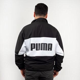 Jaqueta Puma Masculina Woven Track Jacket Preto Branco 57637601