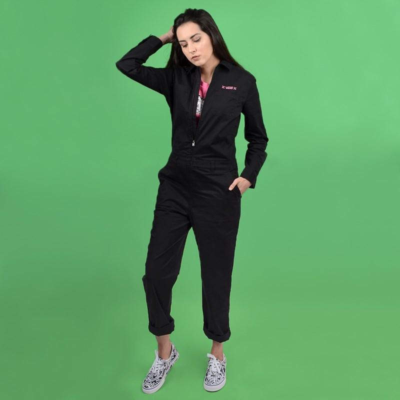 Macacão Vans Feminino Lady Coverall Black VN0A4BG2BLK