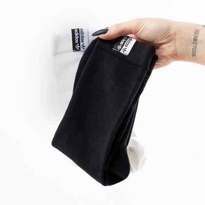 Meia adidas Cuff Crw Kit 2 Pares 37-39 White Black GN3140