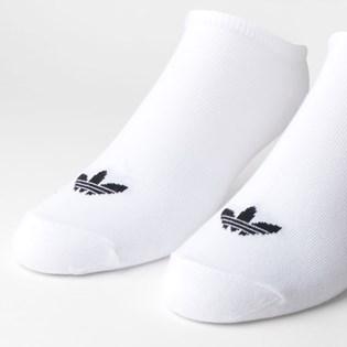 Meia Adidas Feminina Kit 3 Pares Trefoil Liner White S20273