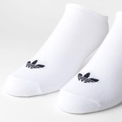 Meia Adidas Masculina Kit 3 Pares Trefoil Liner White White S20273