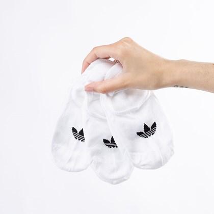 Meia adidas No-Show Unissex Kit 3 Pares 43-45 White FM0676