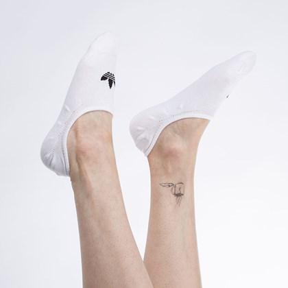 Meia adidas No-Show Unissex Kit 3 Pares White FM0676