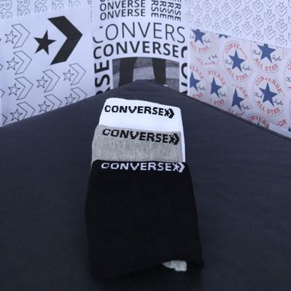 Meia Converse Core 3 Pack Hidden Kit 3 pares White 10019523-A01