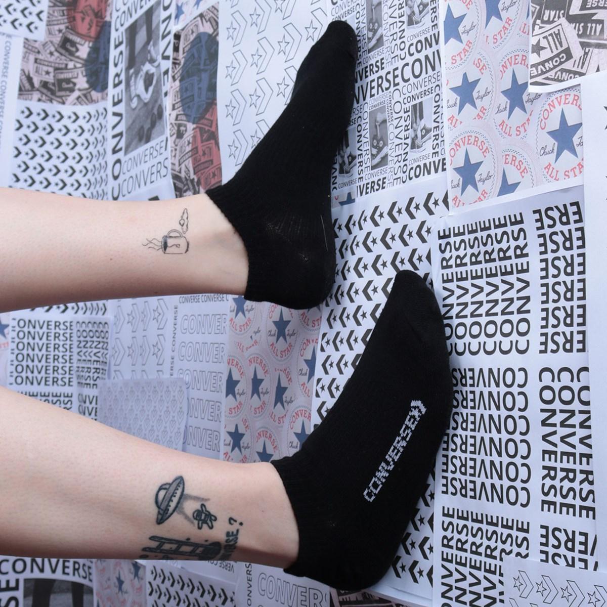 Meia Converse Core Single Footie Black 10019513-A02
