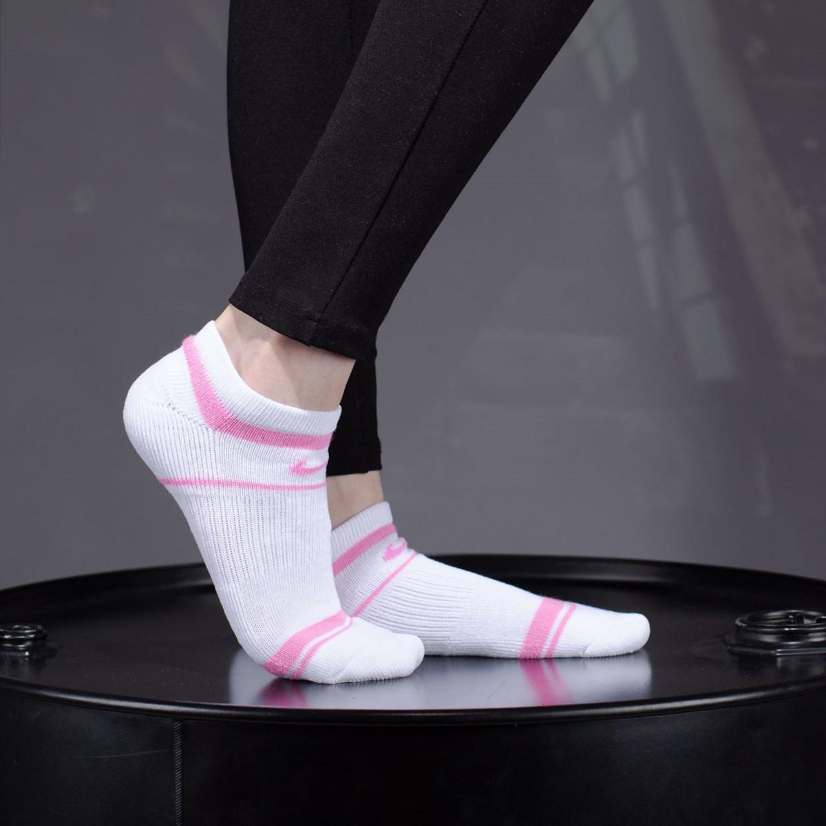 Meia Nike Feminina Everyday Cushioned No Show Kit 3 Pares Multi SK0057-908