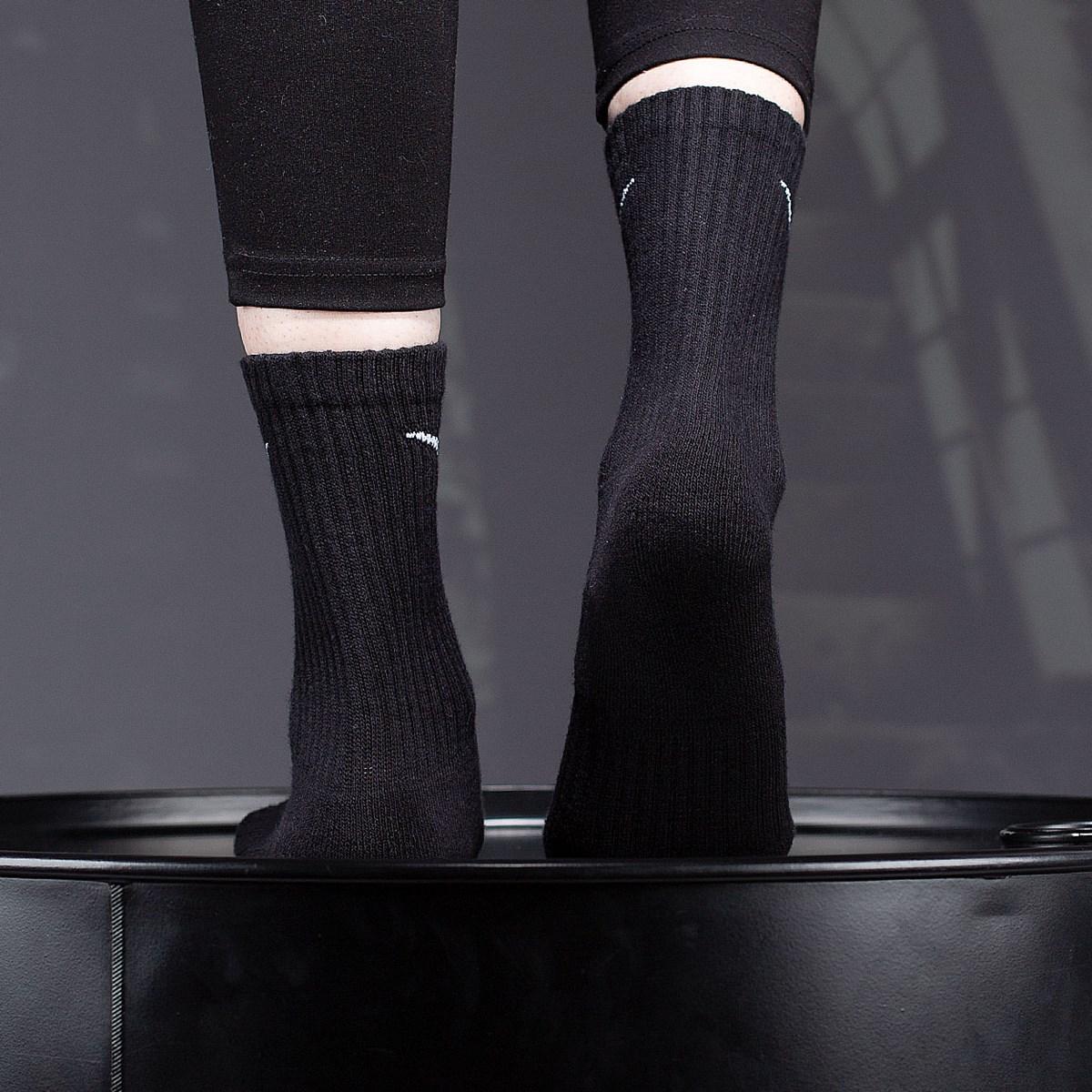 Meia Nike Unissex Everyday Cotton Cushioned Crew Kit 6 Pares Black SX7666-010