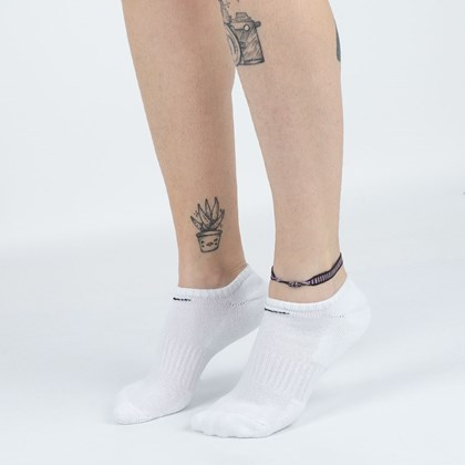 Meia Nike Unissex Everyday Cotton Cushioned No Show Kit 6 Pares White SX7675-100