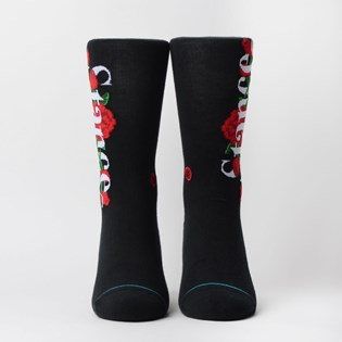 Meia Stance Anthem Roses Black M545C19STR-BLK