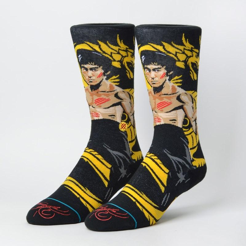 Meia Stance Bruce Lee Dragon Black M545D18FRA