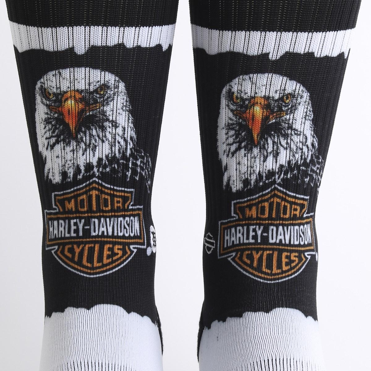 Meia Stance Harley Davidson Harley Bald Eagle Black M556D18HBB-BLK