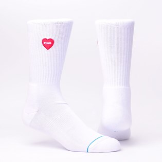 Meia Stance Love Vibes White Red M556A18LOV