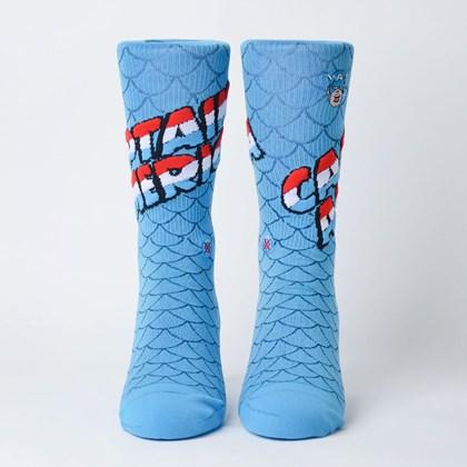 Meia Stance Marvel Captain America Blue M546D18CAP-BLU