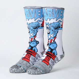 Meia Stance Marvel Captain America Comic Grey M546D18CAA-GRY