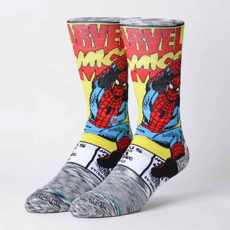 Meia Stance Marvel Spiderman Comic Grey M546D18SPI-GRY