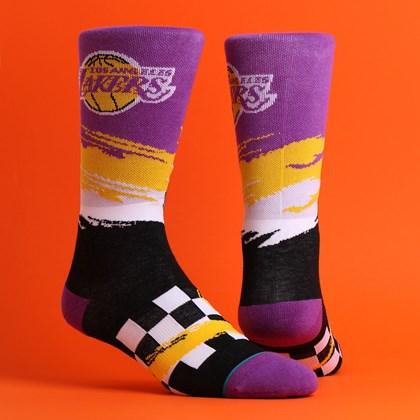 Meia Stance NBA Lakers Wave Racer Purple M548C19LAK-PUR