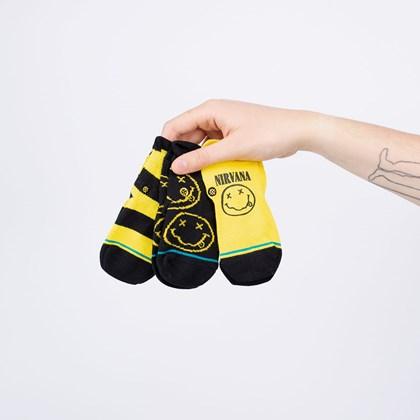 Meia Stance Nirvana Baby Kit 3 Pares Nevermind Multi I110A20NE6-MUL